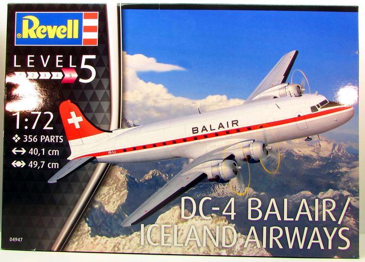 Revell DC-4 Balair Iceland Airways 1/72 04947 Aircraft Plastic Model Kit