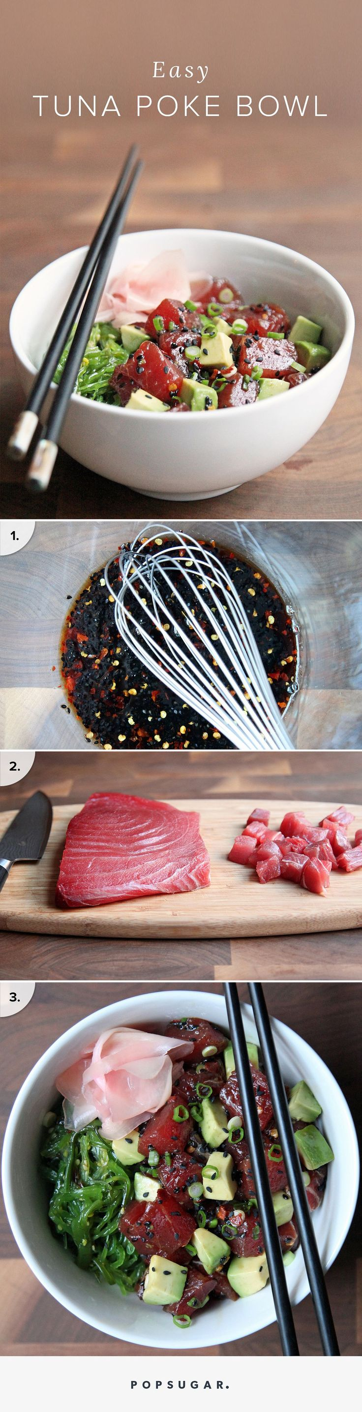 poke is the bowl food to watch for in 2016. A traditional Hawaiian seafood preparation — take bite-size pieces of raw fish like ahi tuna, salmon, or octopus, marinade it in soy sauce and in essence you have poke (pronounced POH-keh) — poke was (and continues to be) a major trend in the Los Angeles dining scene last year.