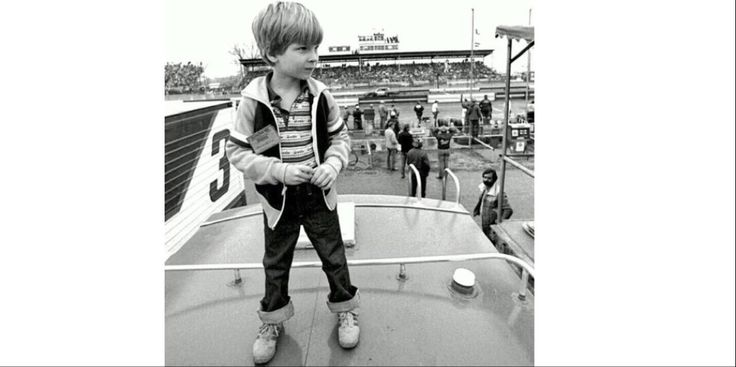 Dale Jr. Age 6 had the best seat in the house to watch his Dad race.