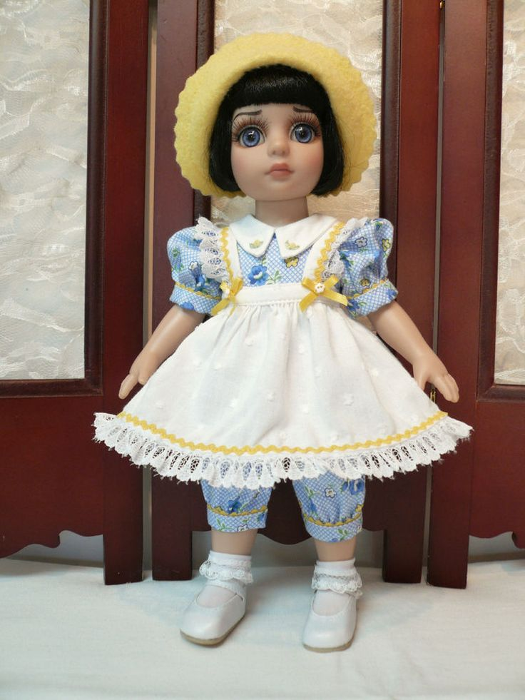 """Blue and Yellow Romper Outfit for Patsy 10"""" Tonner Doll by Apple"""
