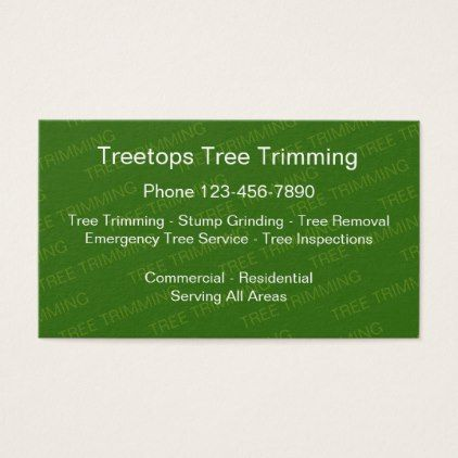 Tree Trimming Services Business Card