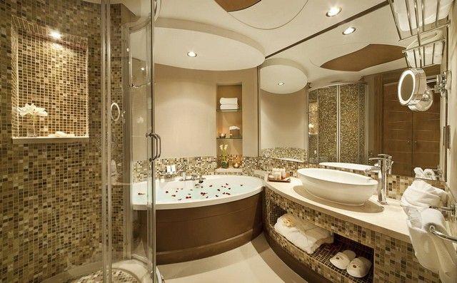 Id es d co pour une salle de bain de luxe style d co for Salle de bain de luxe