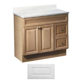 Art Exhibition Insignia Ridgefield Satin White Traditional Bathroom Vanity Common in x