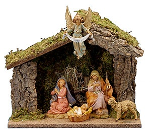 Fontanini Nativity - reminds me of Annie every Christmas