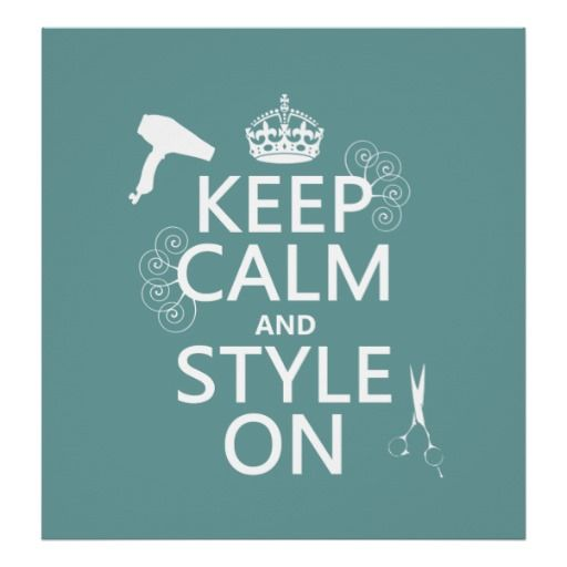 Keep Calm and Style On (any background color) Posters