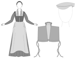 A list of free historical costume patterns including medieval, Elizabethan and Victorian patterns. margospatterns.com