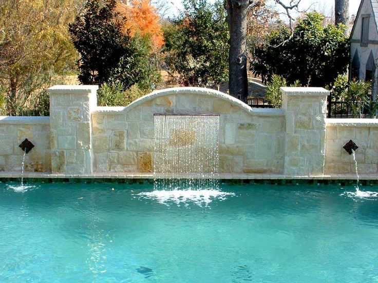 Wall Fountains Outdoor Pool with formal pool westlake rain descent