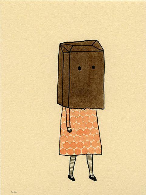 Paper Bag Head by Kate Pugsley