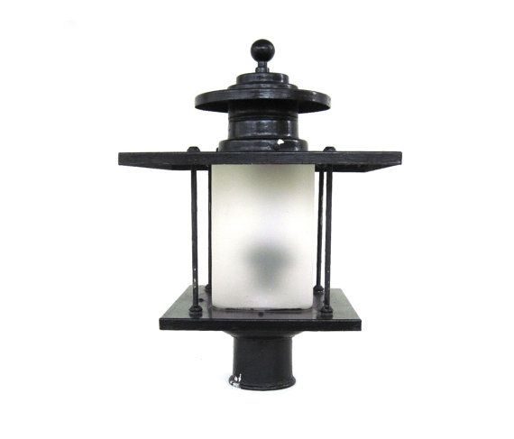 artolier exterior lamp post light fixture lantern yard outdoor 1940s