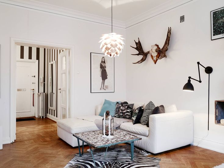 Living room with different angles and curves - via cocolapinedesign.com