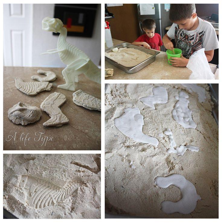 Fósiles de yeso paso a paso -  Fossils-how-to