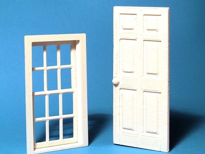 Window and Door in 1:24 scale by HPaul - Thingiverse