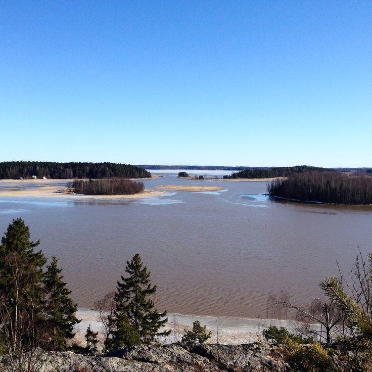 Sunny spring day in Porvoo. View from Tornikallio hill in Hamari.  www.visitporvoo.fi