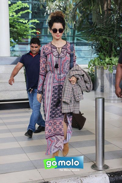 Kangana Ranaut snapped at Mumbai Domestic Airport