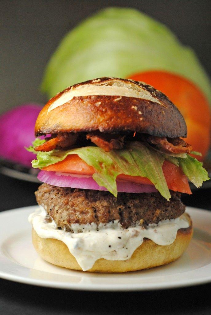Bleu Cheese Burgers from @Jen @ Juanita's Cocina