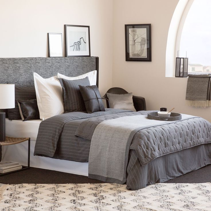 Κάλυμμα κρεβατιού και μαξιλαριού φανέλα πιε ντε πουλ - Καλύμματα - Κρεβατι | Zara Home Ελλάδα / Greece