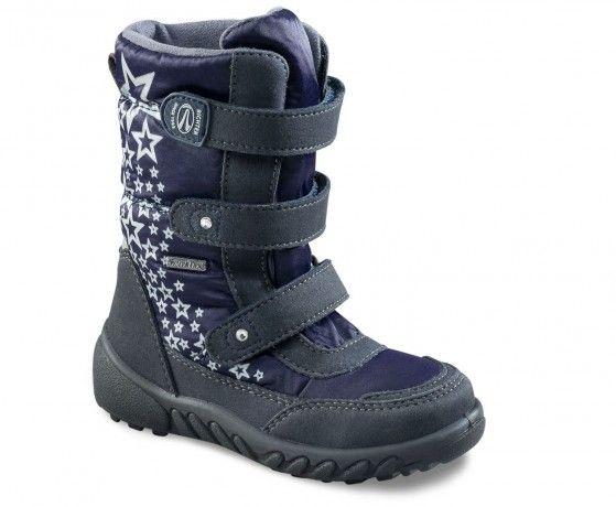 Richter Dívčí zimní boty s hvězdičkami - tmavě modré