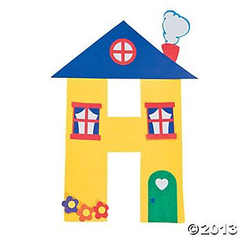 h is for houses letter h craft kit alphabet craft activitiespreschool