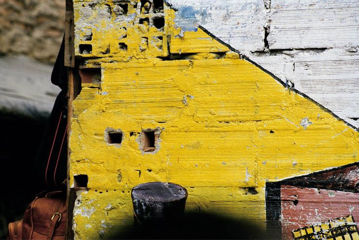 Yellow facade