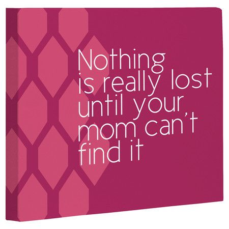 Nothing is Really Lost Canvas Giclee Print - for Mother's Day.