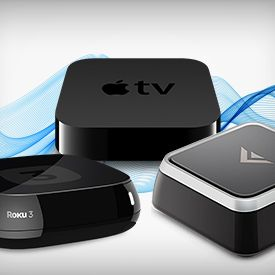 "The 5 Best Media Players. Streaming set top boxes make for a cleaner experience than internet connected ""smart TV's"". Here are the best 5, including the Roku, Apple TV, and Google TV."