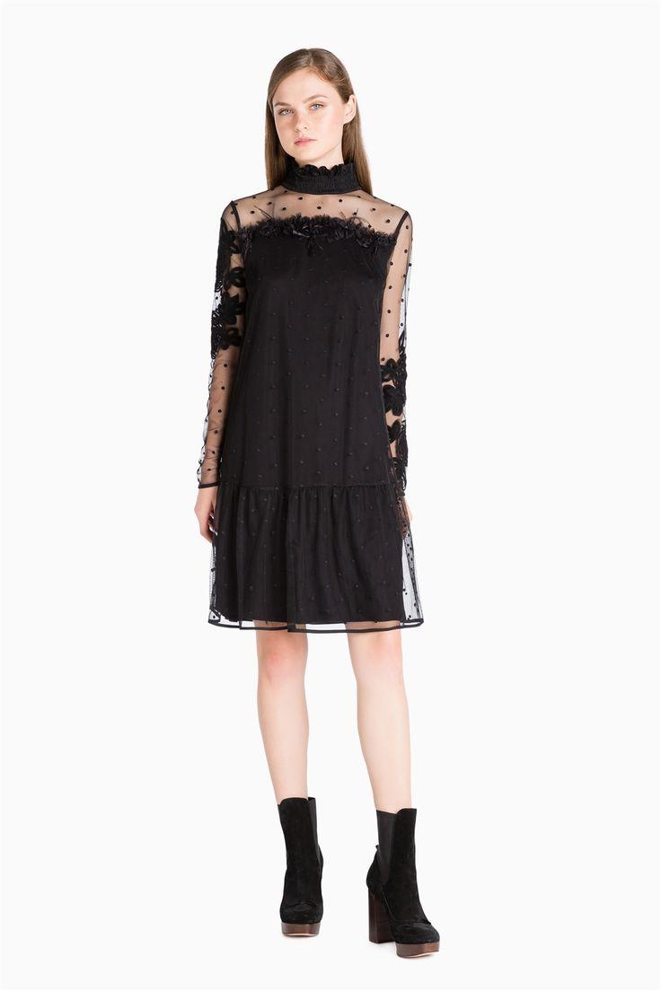 TWINSET Simona Barbieri :: О/З 16 :: Платья :: платье из тюля с вышивкой :: KA62GQ