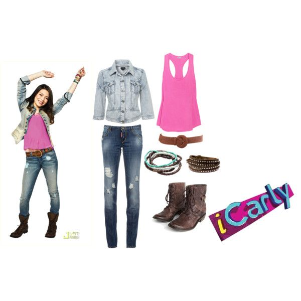 Carly Shay Outfit #1 by gummybeargal on Polyvore featuring Splendid, Dsquared2, Mia Limited Edition, H&M, Modström, miranda cosgrove, nickelodeon, icarly and carly shay