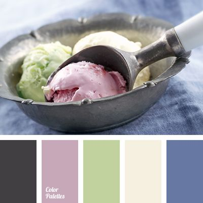 color of ice cream, color of jeans, color of pistachio ice cream, color palette for designers, color solution for design, dark gray, dark-blue, denim, light green, lilac, pale yellow, pistachio color, selection of color.