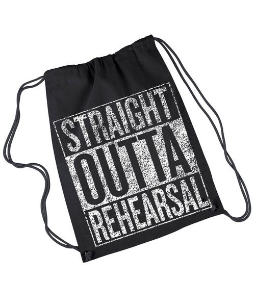 Grab this light duty rehearsal bag - throw in your script, character shoes, snack, water bottle, etc. and you're ready.  Lightweight 4 oz, 100% cotton canvas drawstring backpack with color-matched dra