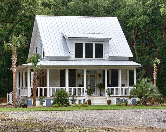 Medium-Sized Custom Farmhouse w/ Wrap-around Porch (7 HQ Pictures) | Metal Building Homes