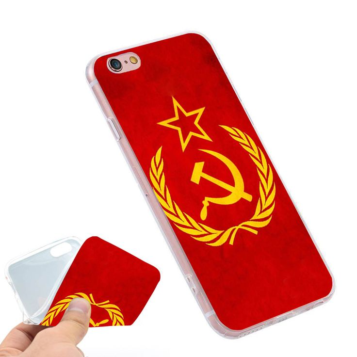 Soviet Union USSR Grunge Flag  Clear Soft TPU Slim Silicon Phone Case Cover for iPhone 4 4S 5C 5 SE 5S 7 6 6S Plus 4.7 5.5 inch