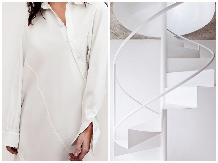 Inspiration behind Elena Ciuprina Spring 2015 collection.Spiral Shirtdress.