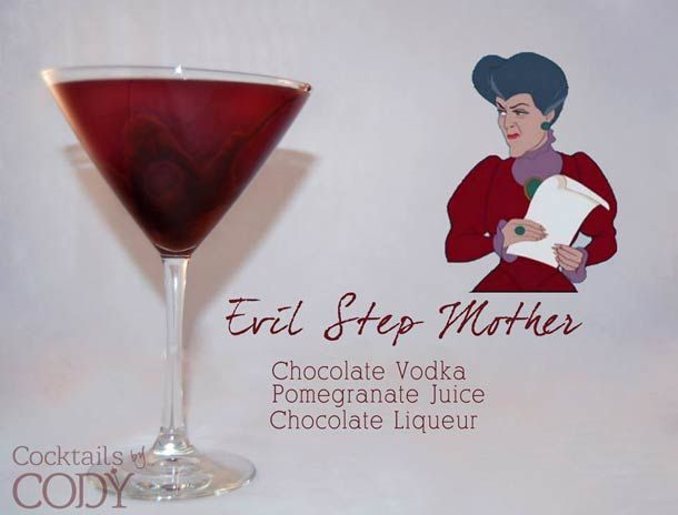 "Evil Step Mother ""Disney Cocktails"", imaginés par Cody, créateur de cocktail indépendant à Washington."