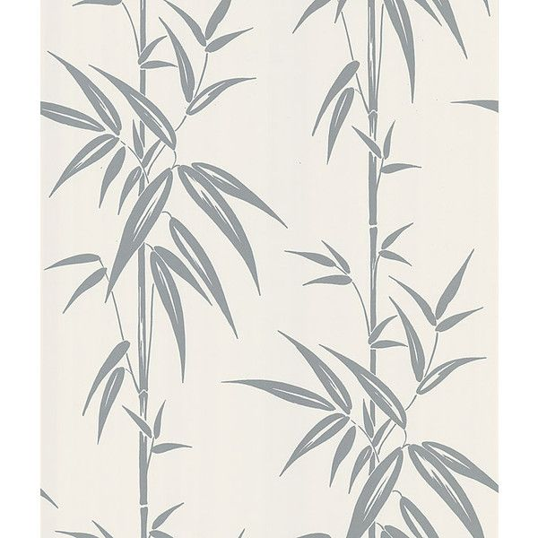 Saharan Bamboo Stalk Wallpaper In Silver By Brewster Home Fashions ($49) ❤  Liked On