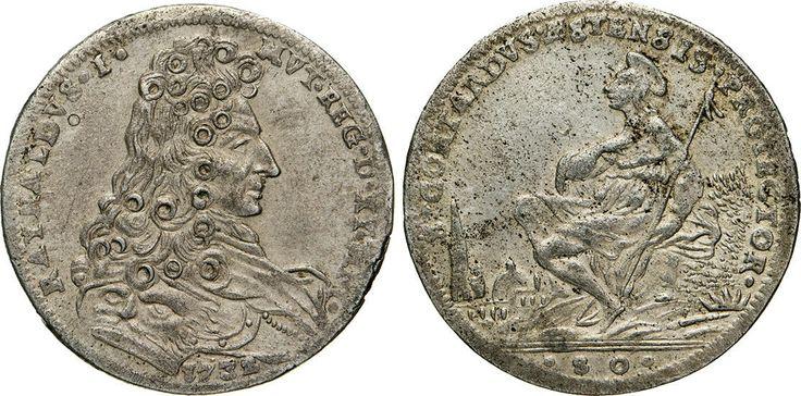 NumisBids: Numismatica Varesi s.a.s. Auction 65, Lot 449 : MODENA - RINALDO D'ESTE (1706-1737) Mezzo Ducato da 80 Soldi 1732. ...