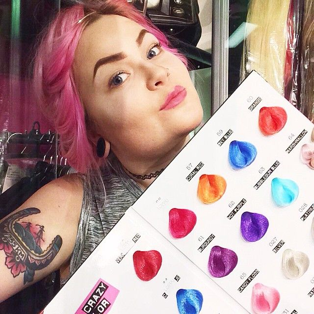 Choose your favourite colour! #crazycolor #renbow #bright #pinkhair #pastelhair #cottoncandy #pinkissimo #candyfloss #red #orange #blue #purple #pink #silver #tattoo #girlswithtattoos #inkedgirls #alternative #strechedears #lobes #tunnels #cybershop #cybershopkamppi #kamppi