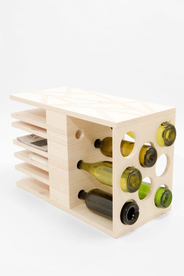 Three of a Kind sidetable, winerack by studio hamerhaai made in Netherlands on CROWDYHOUSE #sidetable #industrialdesign