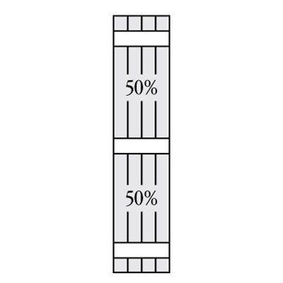Perfect Shutters 6.875W in. Closed Board-N-Batten Vinyl Shutters Sandalwood - 1360735011C002, PERF098-255