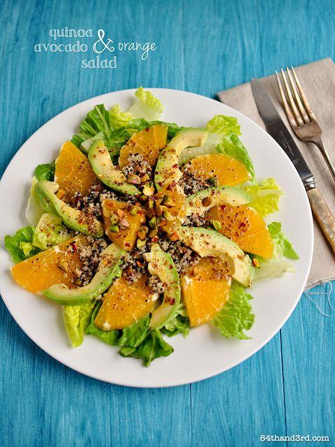Moroccan Quinoa, Avocado & Orange Salad by 84thand3rd, via Flickr