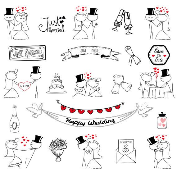 Wedding Clipart Elements Marriage Marry Clip Art by TeoldDesign