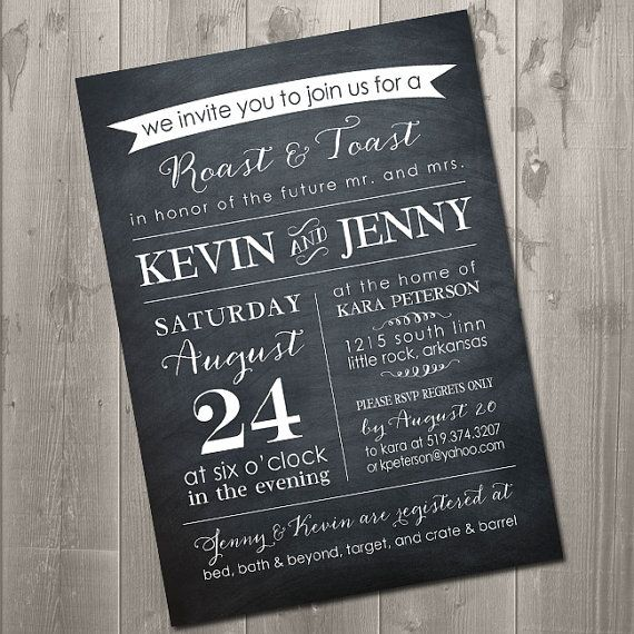 Roast And Toast Chalkboard Couples Shower By Simplysmittendesigns