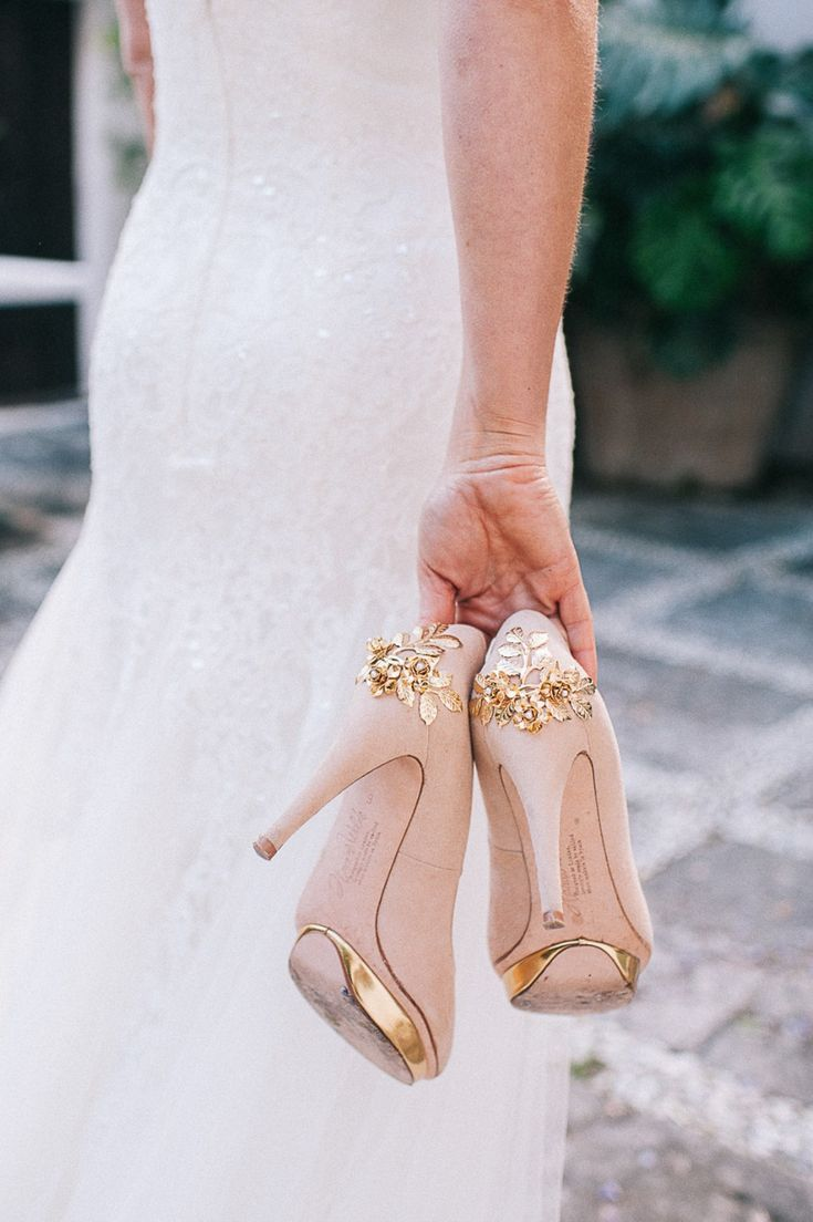 blush and gold wedding shoes  Gold wedding shoes, Pink wedding