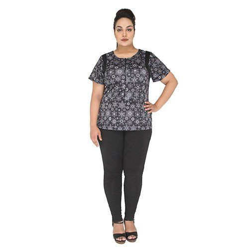 Shop our wide selection of plus size tops for women to meet your fitness needs. Meticulously crafted with luxurious cotton blend our charcoal leggings offer a figure-flattering comfort which can be worn on any top and tunic.