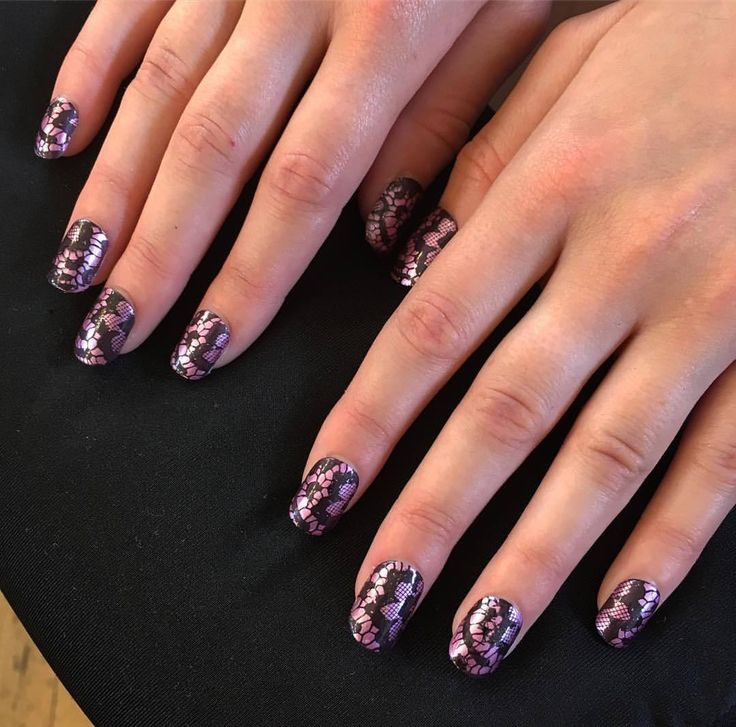522 best my nail work images on pinterest metallic pink lace for rocknrollbride lenaeiram today nails lace metallic prinsesfo Image collections