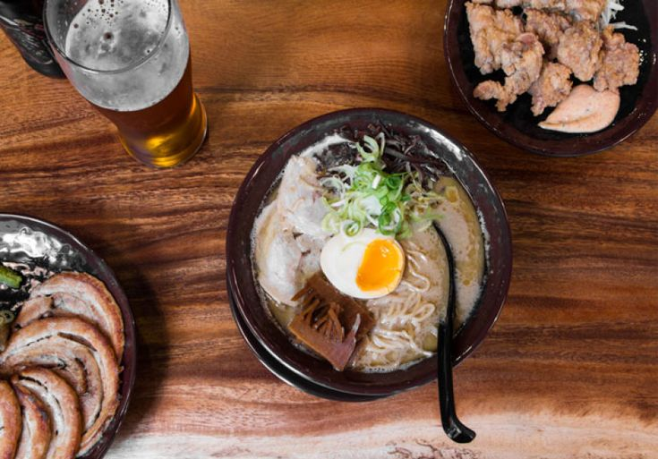 Loud greetings, hot noodles and authentic flavours at this slick city ramen spot.