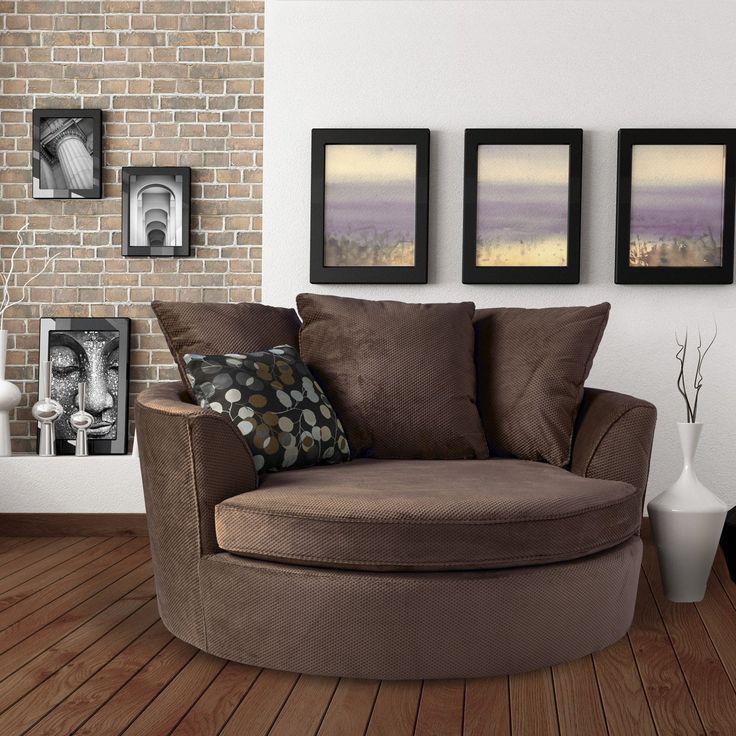 Sofas To Go Textured Cuddler Round Chair Pewter Cuddler