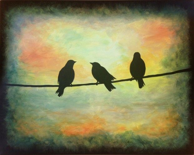 Three Little Birds | http://creativelyuncorked.com
