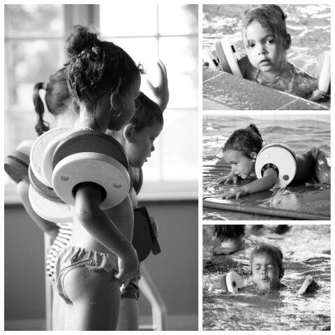 First swimming lesson...