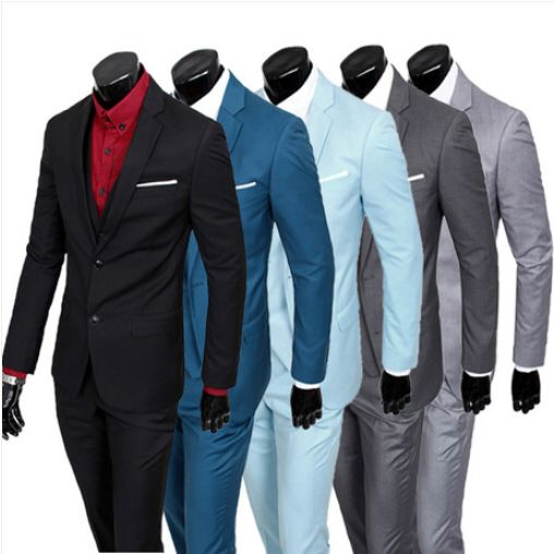 Hot!New 2014 Slim Custom Fit Tuxedo Brand Fashion Bridegroon Men's Business Dress Suits Blazers Set,Jackets+Pants+Vests  5 color