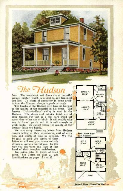63 best 1890 1930 american foursquare images on pinterest for American kit homes